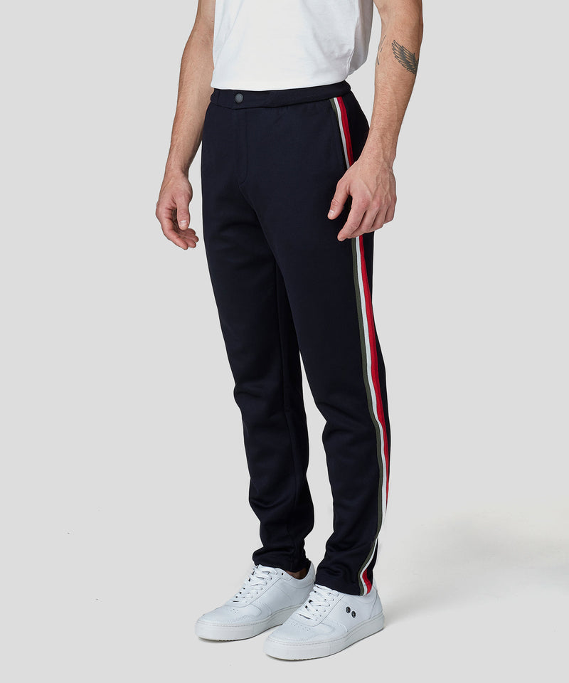 Striped Tennis Trousers - navy