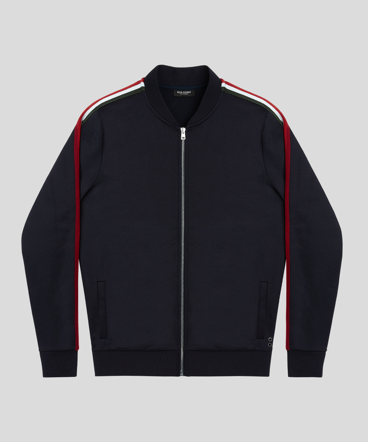 Striped Tennis Jacket - navy