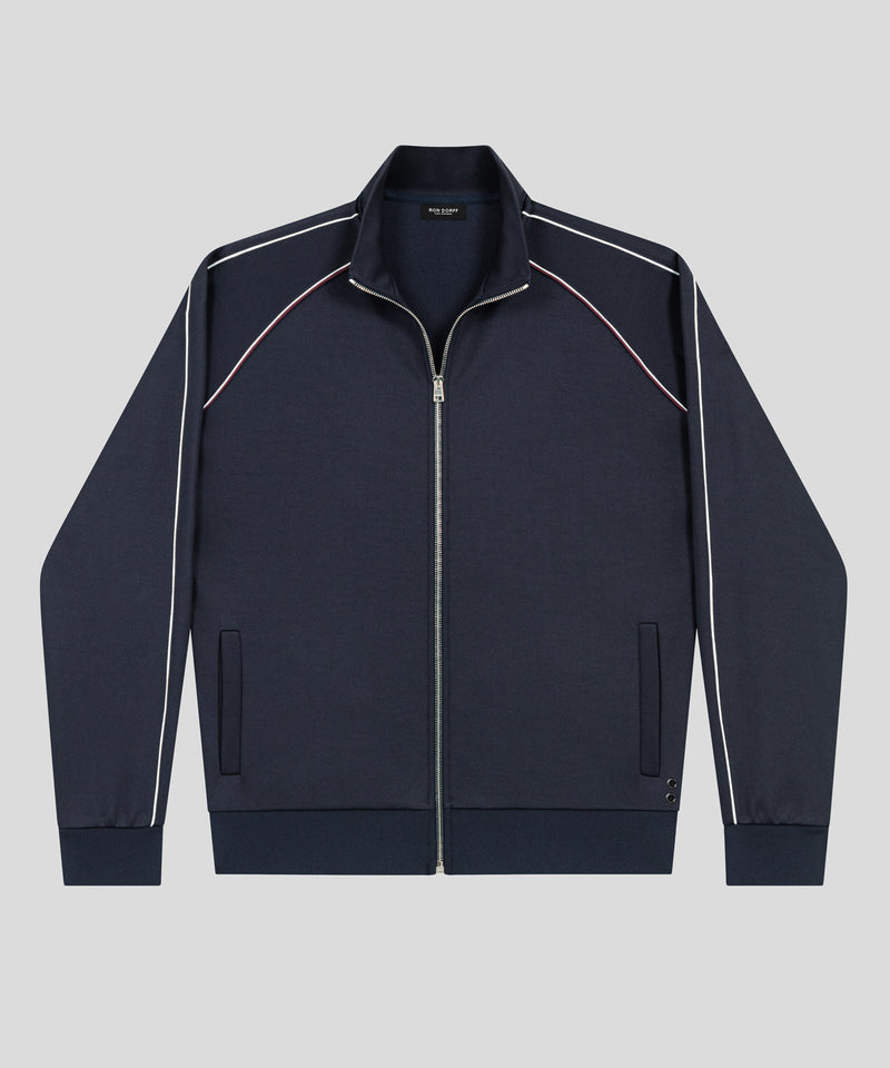Urban Tennis Jacket Piping - navy