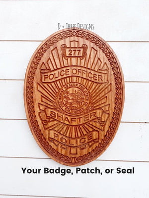 Shafter police badge, wooden badge, custom police badge, police retirement, police graduation