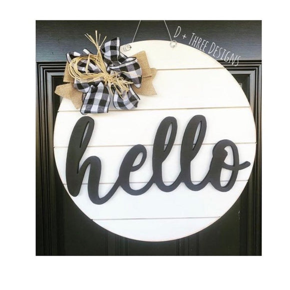 shiplap door hanger, farmhouse door hanger, wooden shiplap sign, shiplap decor, door hanger, welcome door sign
