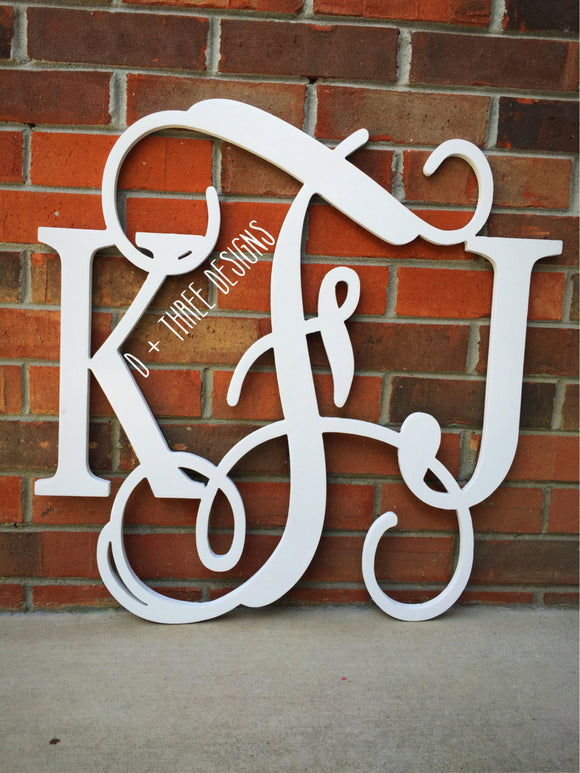28 Inch Wooden Monogram Painted (You Pick Colors and Letters), Wooden Letters, Monogram, Home Decor, Nursery Letters, & More