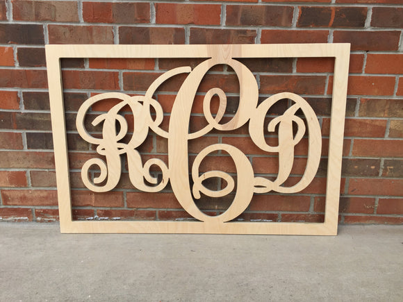 30 Inch Wooden Monogram Raw, Wooden Letters, Monogram, Home Decor, Nursery Letters, & More