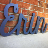 Painted Script Connected Wood Wall Name/Nursery Decor/Wooden Initials/Housewarming Gift/Name Plaque/Wedding Name/Name Decor