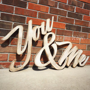 Distressed Me & You Painted Wooden Letters, You and Me Wooden Letters, Wooden Letters, Wall Letters, Wooden Sign