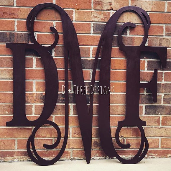 30 Inch Wooden Monogram Painted (You Pick The Color), Wooden Letters, Monogram, Home Decor, Nursery Letters, & More