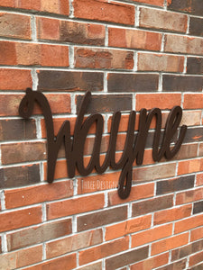 Painted Script Wall Name/Nursery Decor/Wooden Initials/Housewarming Gift/Name Plaque /You Pick The Colors