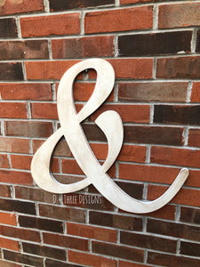 "20"" Distressed Vintage Ampersand & Sign"