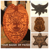 Virginia State Police Personalized Police Badge or Patch // Police Retirement // Police Gift