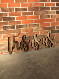 This Is Us Wooden Words, This is Us Farmhouse Living Room Sign, This is us Sign