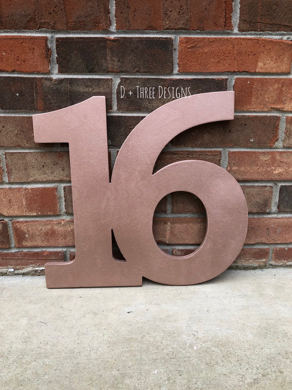 14 Inch Wooden Numbers, Birthday Numbers, Photo Prop, Birthday Decor, Retirement Party, Birthday Board