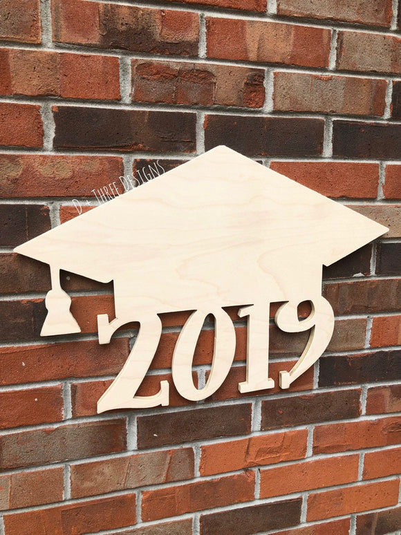 Graduation Class of 2019 Graduation Cap Guest Book, Door Hanger, Graduation Party Decor