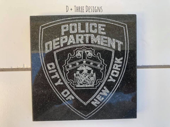 Police Badge Coaster