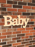 Baby Sign, Wooden Letters, Home Decor, Wooden Phrase, Shelf Sign