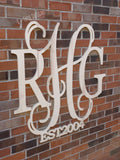 36 Inch Wooden Monogram, Wooden Letters, Monogram, Home Decor, Nursery Letters, & More