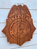 Florida Financial Services Investigator //Personalized Police Badge or Patch // Police Retirement // Police Gift