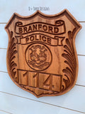 Branford CT Personalized Police Badge or Patch // Police Retirement // Police Gift
