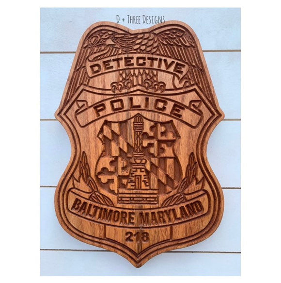 Baltimore Police // Personalized Police Badge or Patch // Police Retirement // Police Gift