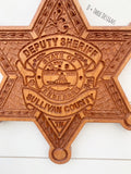 Sheriffs Deputy Badge // Personalized Police Badge or Patch // Police Retirement // Police Gift