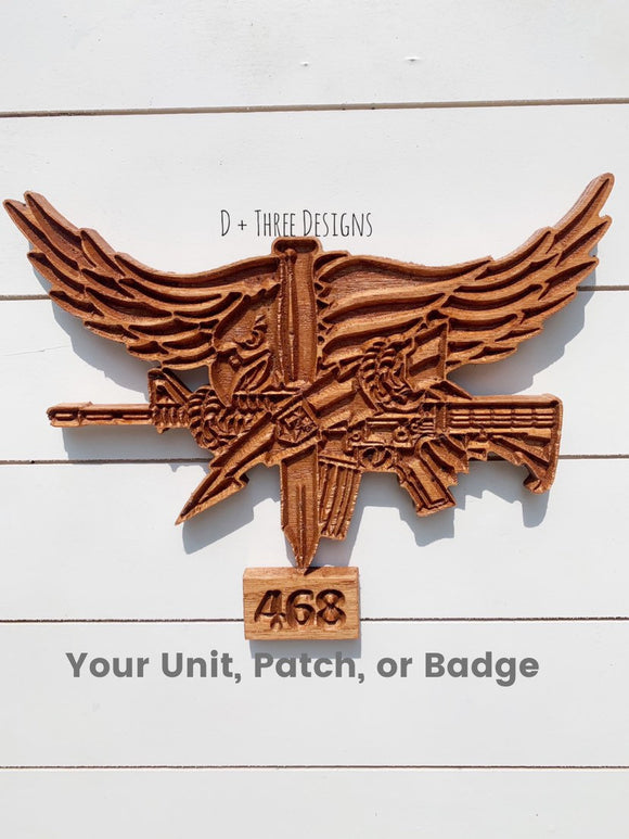 Wooden SWAT Logo // Personalized Police Badge or Patch // Police Retirement // Police Gift