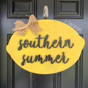 Southern Summer Lemon door hanger