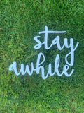 Stay awhile Wooden Sign // Bedroom Sign // Bedroom Decor