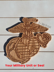 Military Seal // USMC // Marine Corps // Military Plaque