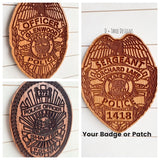 Custom Police Badge or Patch // Police Retirement // Police Gift
