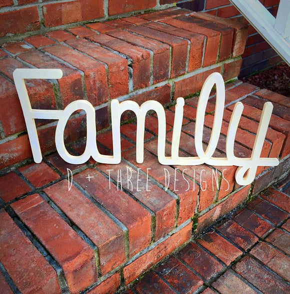 8 Inch Family Wooden Sign