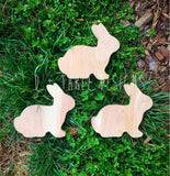 Painted Wooden Bunnies, Wooden Rabbits, Easter Bunny, Wooden Easter Bunny, Easter Decor
