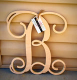 14 Inch Single Wooden Monogram Letter