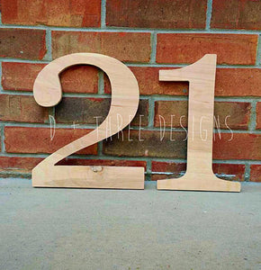 12 Inch Wooden Numbers, Birthday Numbers, Photo Prop, Birthday Decor