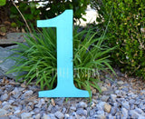 12 Inch Wooden Numbers Painted, Birthday Numbers, Photo Prop, Birthday Decor