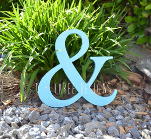 8 Inch Wooden Amperstand Painted, Wooden Letters, Wooden Symbol, Photo Prop, Shelf Sign