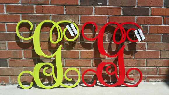 2 Pack 20 Inch Wooden Letter Painted, Wooden Letters, Monogram, Home Decor, Nursery Letters, Wooden Monogram, Wood Monogram, & More