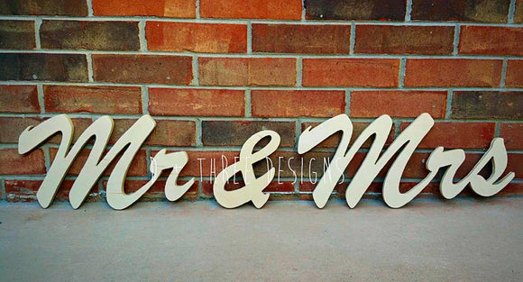 8 Inch Mr and Mrs Wedding Decor, Chair Sign, Wedding Monogram, Wedding Letters, Table Letters, Wooden Letters