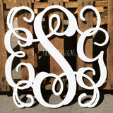 26 Inch Wooden Monogram Painted, Wooden Letters, Monogram, Home Decor, Nursery Letters, & More