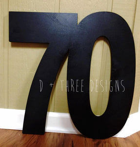 18 Inch Wooden Numbers, Birthday Numbers, Photo Prop, Birthday Decor, Retirement Party, Birthday Board