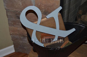 "14"" Painted Wooden Ampersand, Photo Prop, Wedding Decor, Engagement,  You Pick The Color"