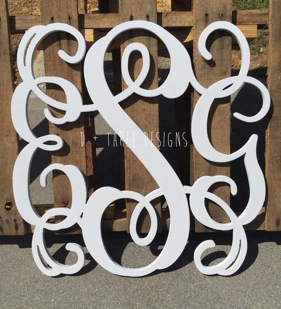 34 Inch Wooden Monogram Painted (You Pick The Color), Wooden Letters, Monogram, Home Decor, Nursery Letters, & More