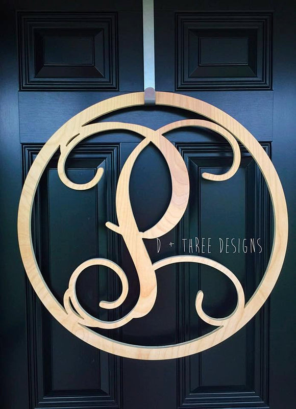 30 Inch Circle Wooden Monogram, Wooden Letters, Monogram, Home Decor, Nursery Letters, & More