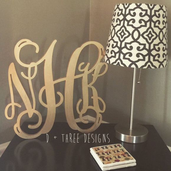 14 Inch Wooden Monogram Painted, Wooden Letters, Monogram, Home Decor, Nursery Letters, & More
