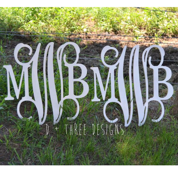 2 PACK: 16 Inch Painted Wooden Monograms, Letters, Home Decor, Weddings, Nursery Letters, Ready to be painted!