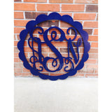 32 Inch Scalloped Wooden Monogram Painted (You Pick The Color), Wooden Letters, Monogram, Home Decor, Nursery Letters, & More