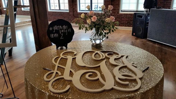 36 Inch Wooden Monogram Painted White, Wedding Guestbook,  Wooden Letters, Monogram, Home Decor, Nursery Letters, & More