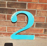 12 Inch Distressed Wooden Numbers Painted (You Pick The Color), Birthday Numbers, Photo Prop, Birthday Decor