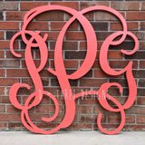 36 Inch Wooden Monogram Painted Coral, Wooden Letters, Monogram, Home Decor, Nursery Letters, & More
