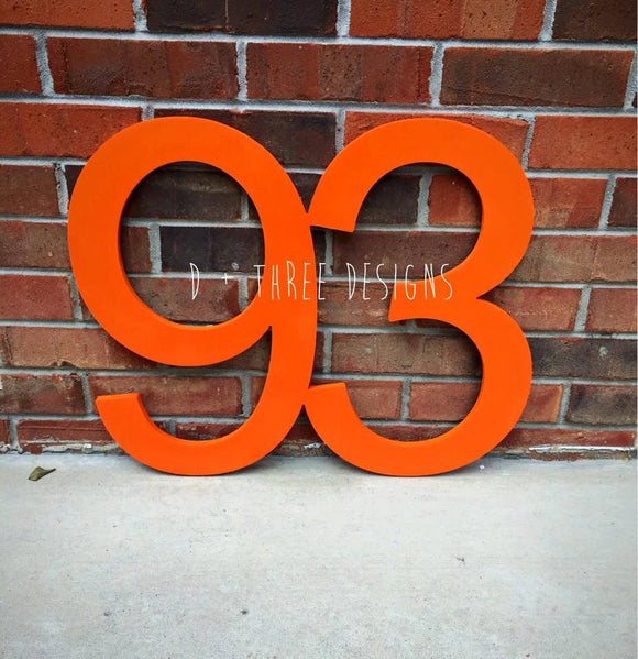 22 Inch Wooden Numbers, Birthday Numbers, Photo Prop, Birthday Decor, Retirement Party, Birthday Board