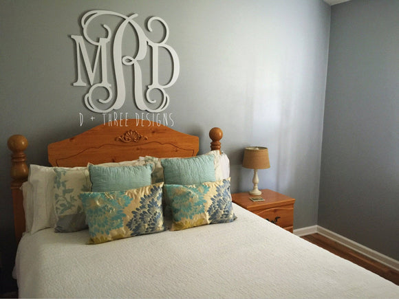 36 Inch Wooden Monogram Painted (You Pick The Color), Wooden Letters, Monogram, Home Decor, Nursery Letters, & More