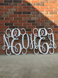 2 Pack 24 Inch Wooden Monograms Painted, Wooden Letters, Monogram, Home Decor, Nursery Letters, & More